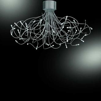 lampadari metallux : metallux flex 36 luci codice 128 336 collezione metallux flex