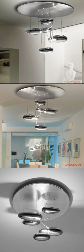 artemide mercury mini soffitto inox design ross lovegrove artemide ...